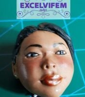 FREEHAND FONDANT FACE (TOPPER)